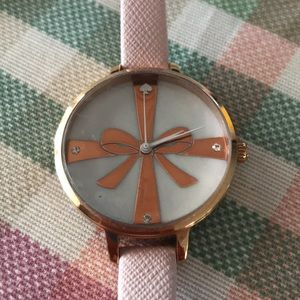 Kate Spade Bow Face Watch Pink Rose Gold
